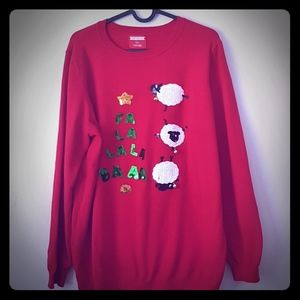 Plus size US 16 festive holiday sweater with bells
